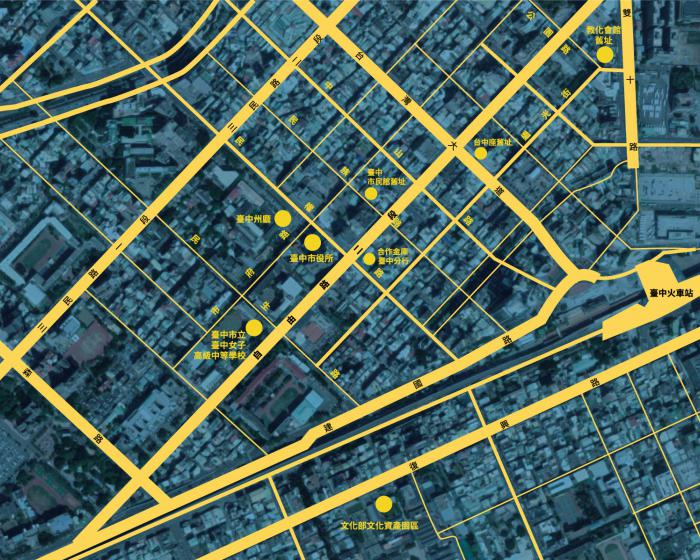 中區228地景地圖